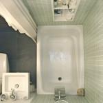 маленькая ванная комната вид сверху
