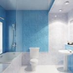 ванная отделанная панелями ПВХ
