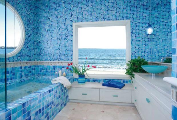 ванная из мозаики