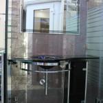тумба для ванной из стекла