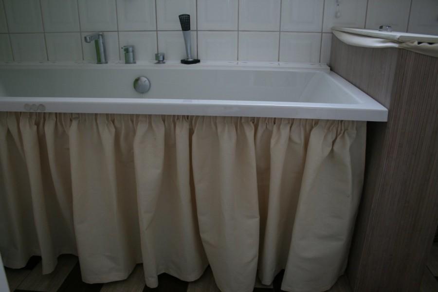 Как сделать шторку под ванну
