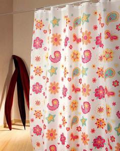 цветная занавеска для ванной