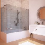 распашная шторка для ванной