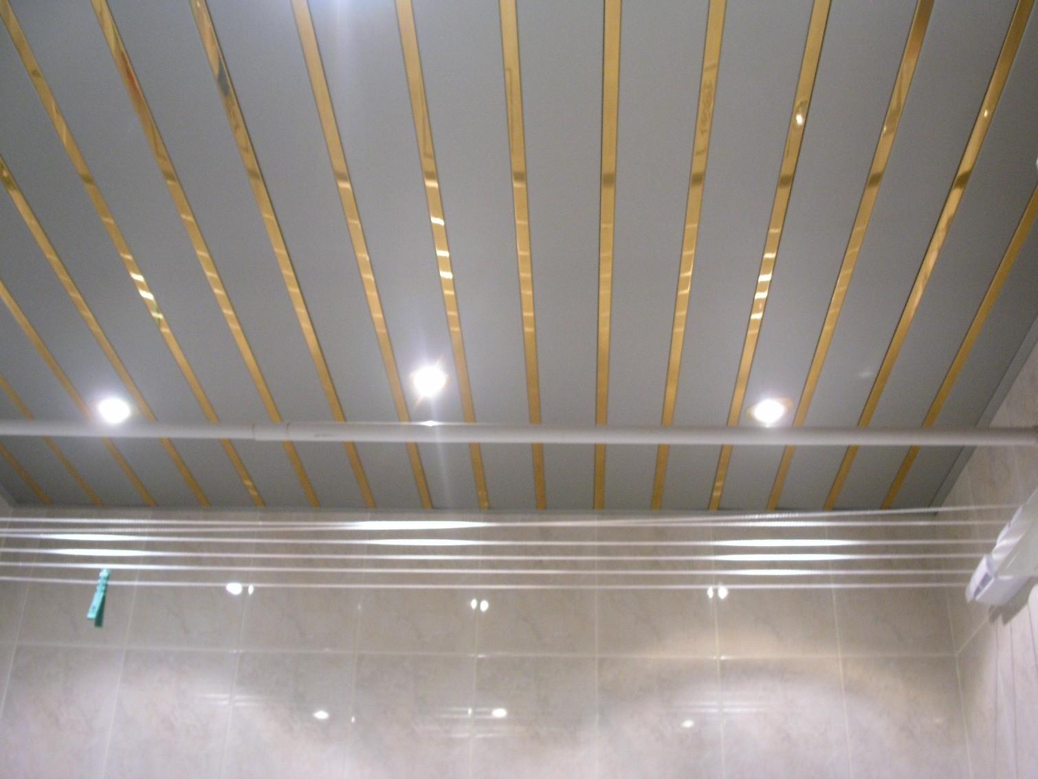 Как сделать реечный потолок в ванной фото 863