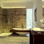 стены в ванной под камень
