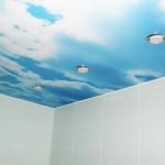 натяжной потолок с текстурой под небо