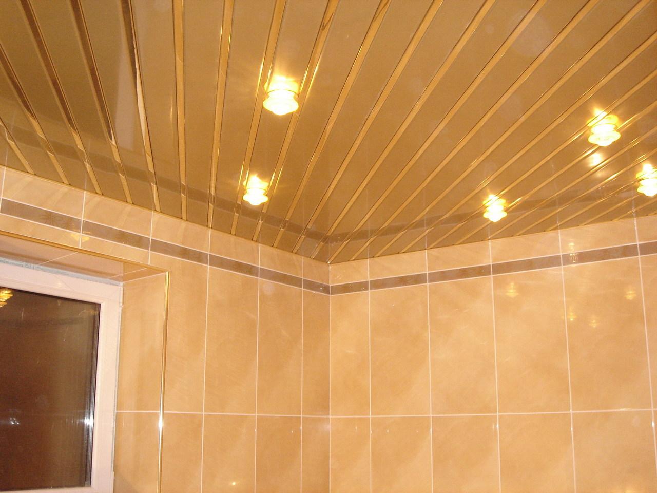 Как сделать реечный потолок в ванной фото 898