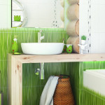 дизайн ванной в зеленом цвете