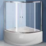 Шторки для ванной: раздвижные, угловые