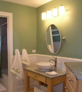 светильники над ванной