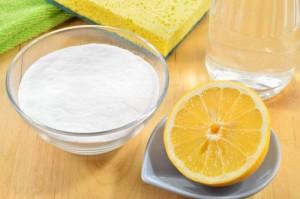 пищевая сода и лимонный сок