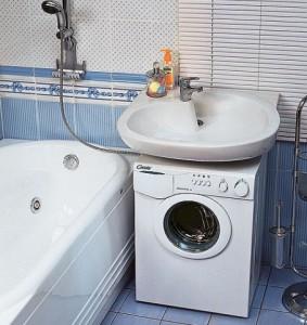стиральная машинка под раковиной