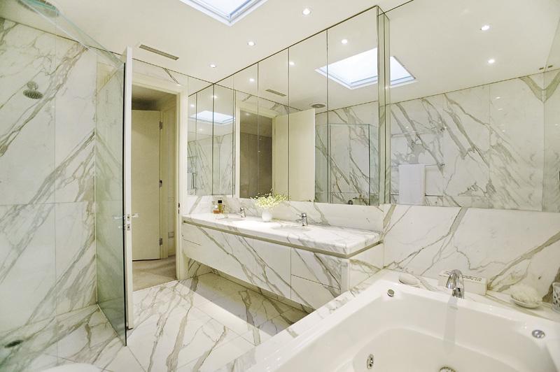 Classic Contemporary Residence Contemporary Bathroom.