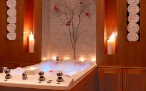 ванная комната со свечками