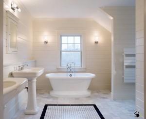 ванная в белых тонах