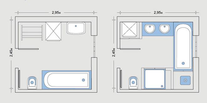 чертеж ванной