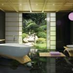 ванная в тропическом стиле