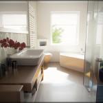 Дизайн в стиле модерн в ванной