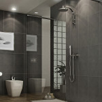 Ванная модерн с зеркалом