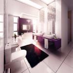 Ванная в стиле модерн в светлых тонах
