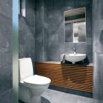 Ванная в стиле модерн в серых тонах