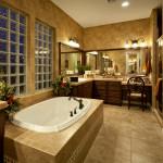 Ванная в стиле модерн в классических тонах