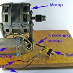 применение двигателя от стиральной машинки