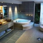 дизайн ванной в стиле хай-тек