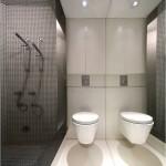 дизайн ванной комнаты в стиле хайтек